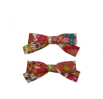 Five / Eleven Hairclip Liberty Bow H Floral Pink