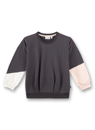 Sanetta Girl's Color Block Sweatshirt