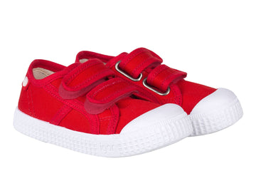 Igor S10199 Boy's & Girl's Berri Velcro Shoes - Rojo