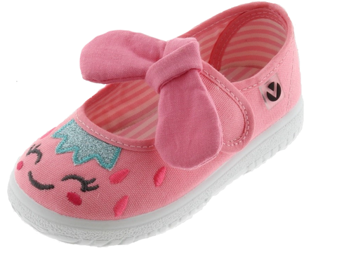 Victoria Girl's and Boy's Mary Jane Slip-On Canvas Sneakers, Rosa