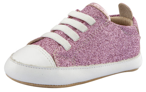 Old Soles Girl's Eazy Jogger First Walkers, Glam Pink