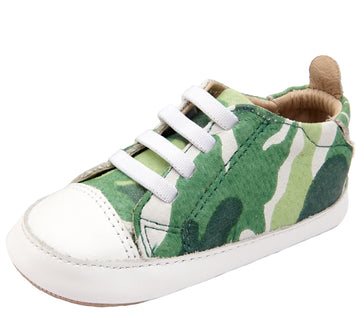 Old Soles Boy's & Girl's 106R Eazy Jogger Leather Slip On Sneakers - Field Camo/Snow