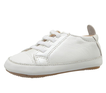 Old Soles Boy's & Girl's 106R Eazy Jogger Leather Slip On Sneakers - White