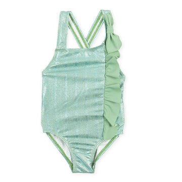 Tutto Piccolo 1077 Girl's Swimsuit - Khaki
