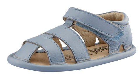 Old Soles Girl's and Boy's Leather Sandy Sandals, Dusty Blue