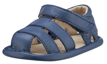 Old Soles Girl's and Boy's Jeans Blue Leather Sandy Sandals