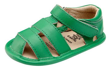 Old Soles Girl's and Boy's 118 Leather Sandy Sandals - Neon Green