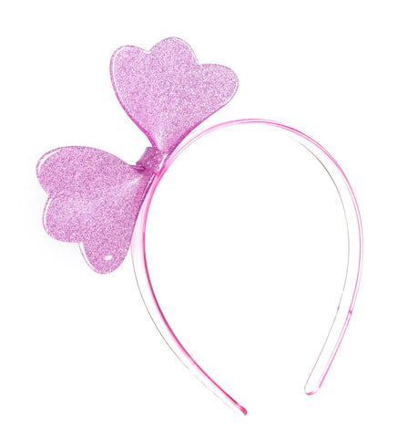 Lilies & Roses NY Girl's Cutie Bow Light Pink Glitter Headband