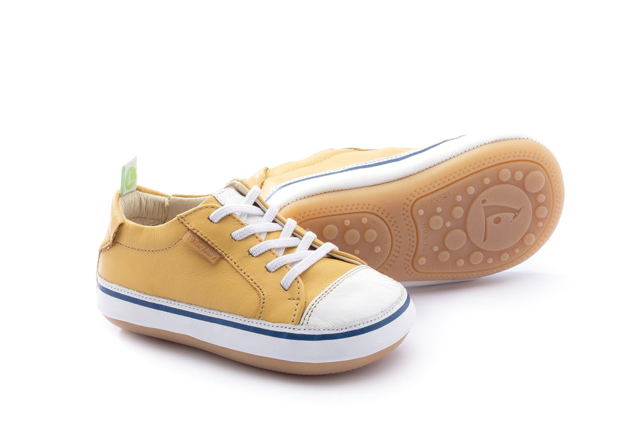 Tip Toey Joey Boy's and Girl's Funky Sneakers, Pequi/White