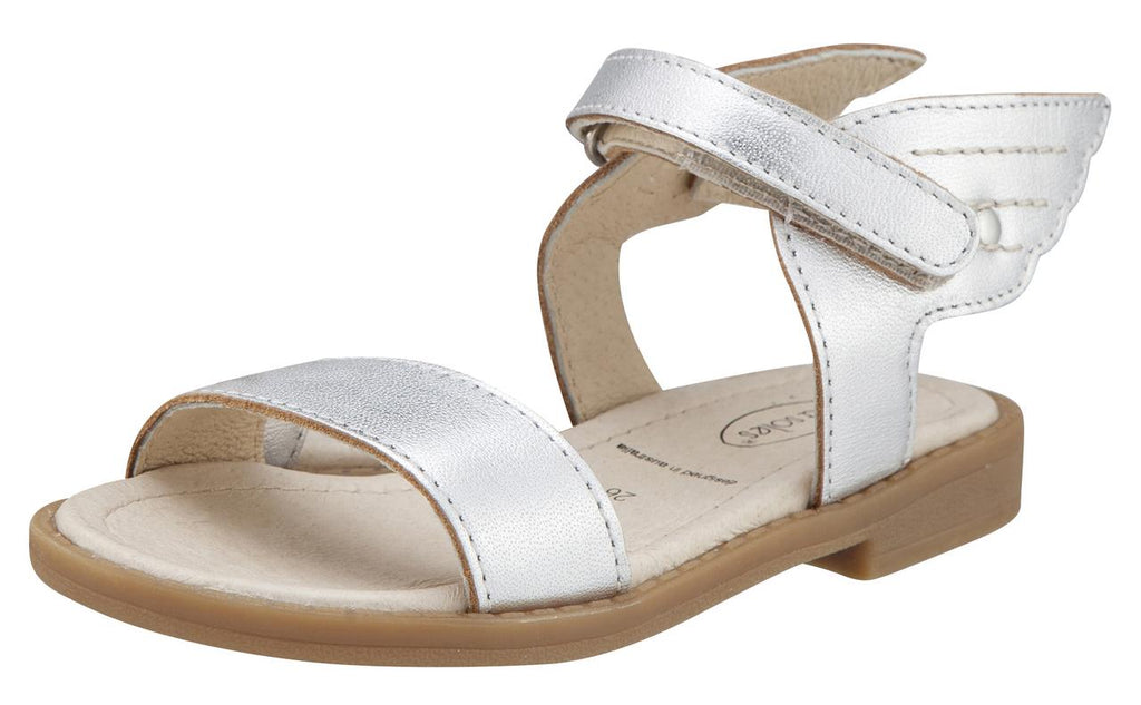 Old Soles Girl's Silver Flying Leather Sandals