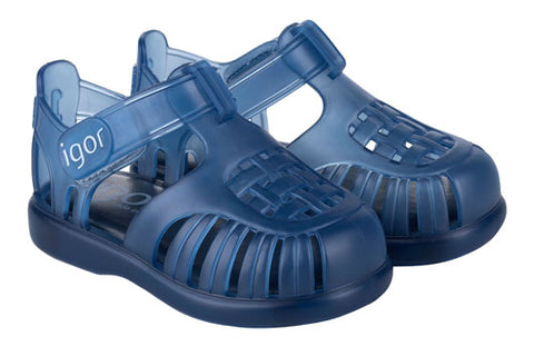Igor S10233 Girl's and Boy's Tobby Sandal - Navy