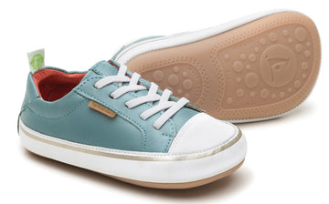 Tip Toey Joey Boy's and Girl's Funky Sneakers, Antique Green/White