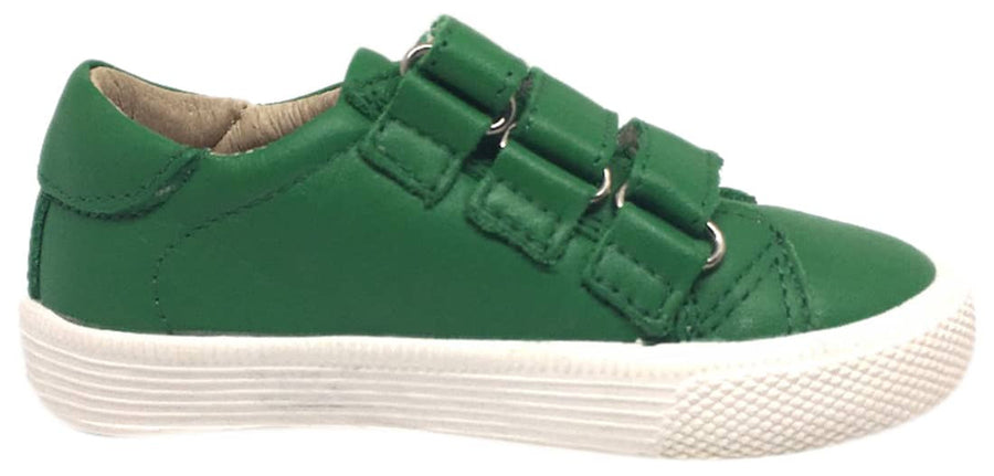 Old Soles Boy's & Girl's Urban Markert Green Leather Sneakers