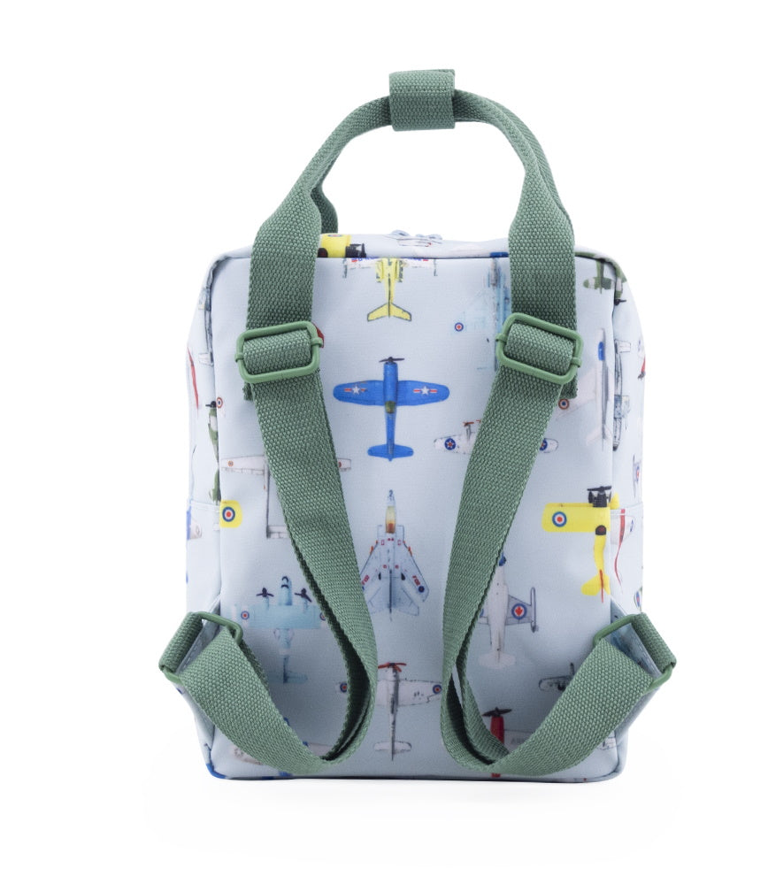 Studio Ditte Small Backpack Ice Blue, Airplanes