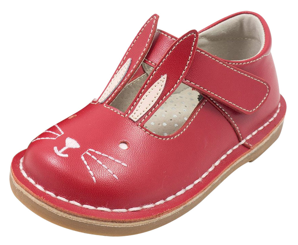 2d7347843f35 Livie luca girls molly red leather bunny character hook and loop mary jane  shoes jpg 1023x841