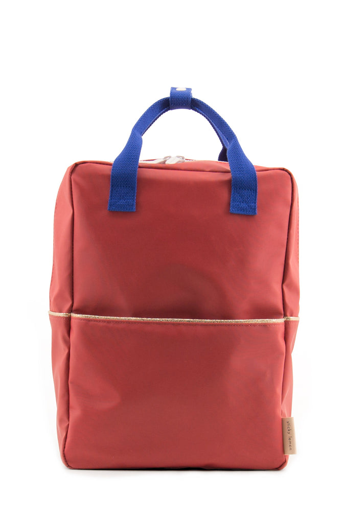 Sticky Lemon Large Backpack, Faded Red