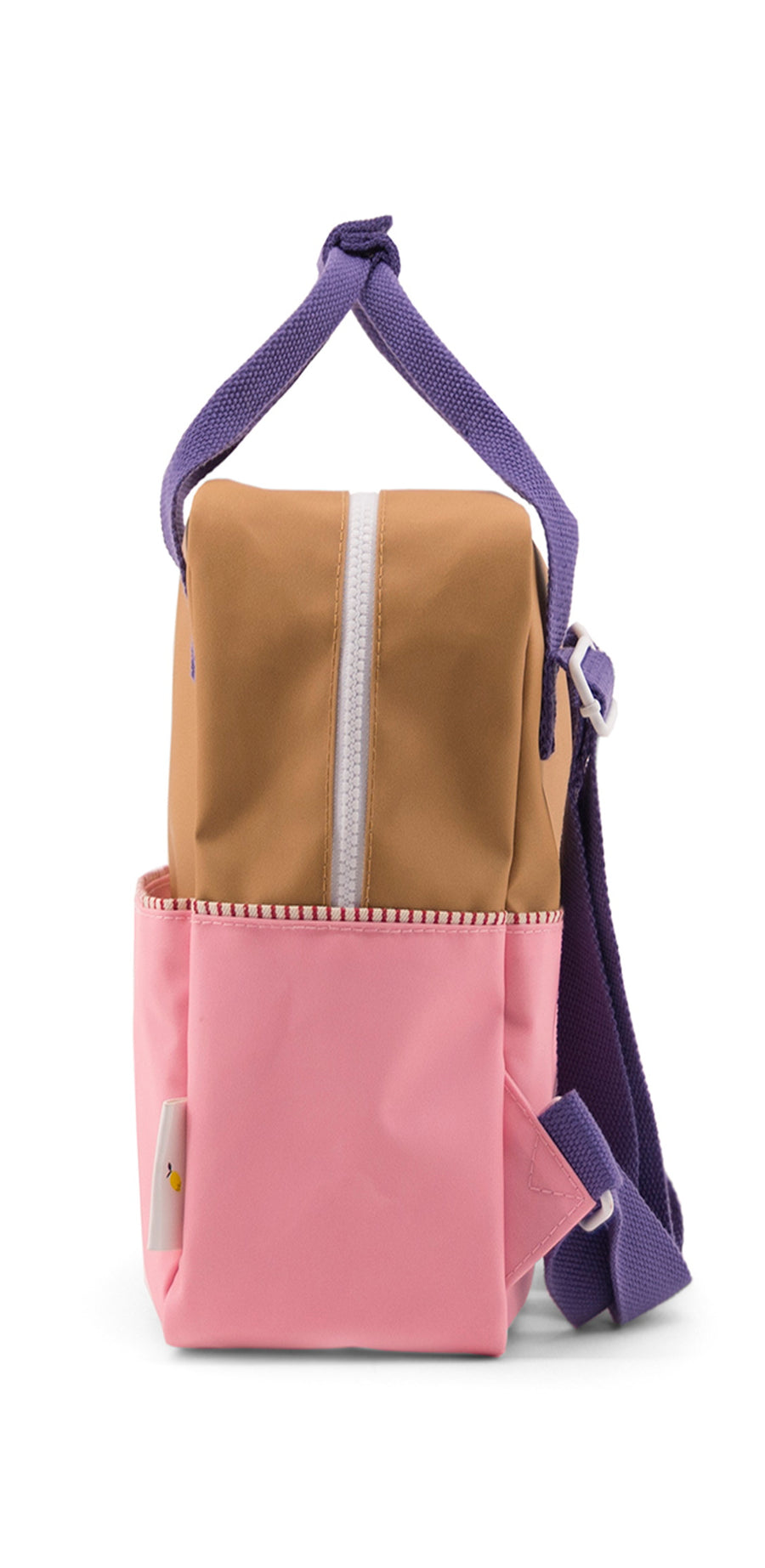 Sticky Lemon Color Block Collection Small Backpack, Panache Gold/Puff Pink/Lobby Purple