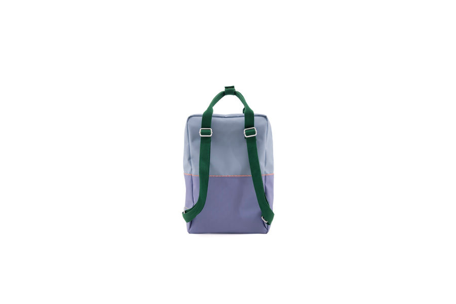 Sticky Lemon Large Backpack Color Block Collection, Henckles Blue/Moustafa Purple/Movie Green