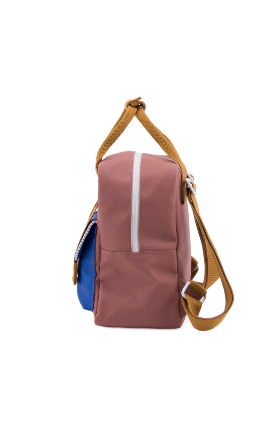 Sticky Lemon Deluxe Collection Small Backpack, Hotel Brick/Ink Blue/Sugar Brown