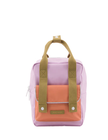 Sticky Lemon Deluxe Collection Small Backpack, Gustave Lilac/Concierge Orange/Madame Olive