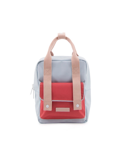 Sticky Lemon Deluxe Collection Small Backpack, Agatha Blue, Elevator Red, Mendl's Pink