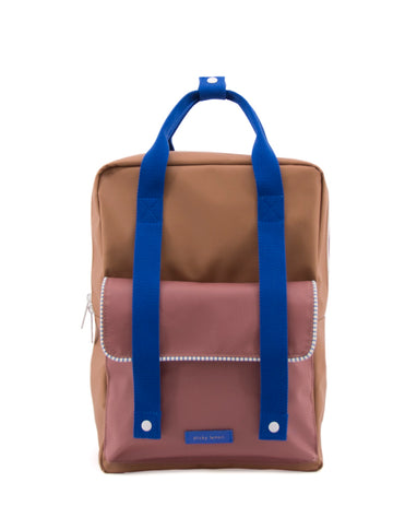 Sticky Lemon Deluxe Envelope Large Backpack, Sugar Brown/Hotel Brick/Ink Blue
