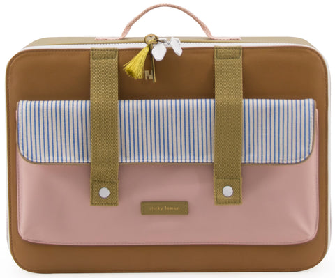 Sticky Lemon Suitcase Deluxe, Sugar Brown/Mendl's Pink