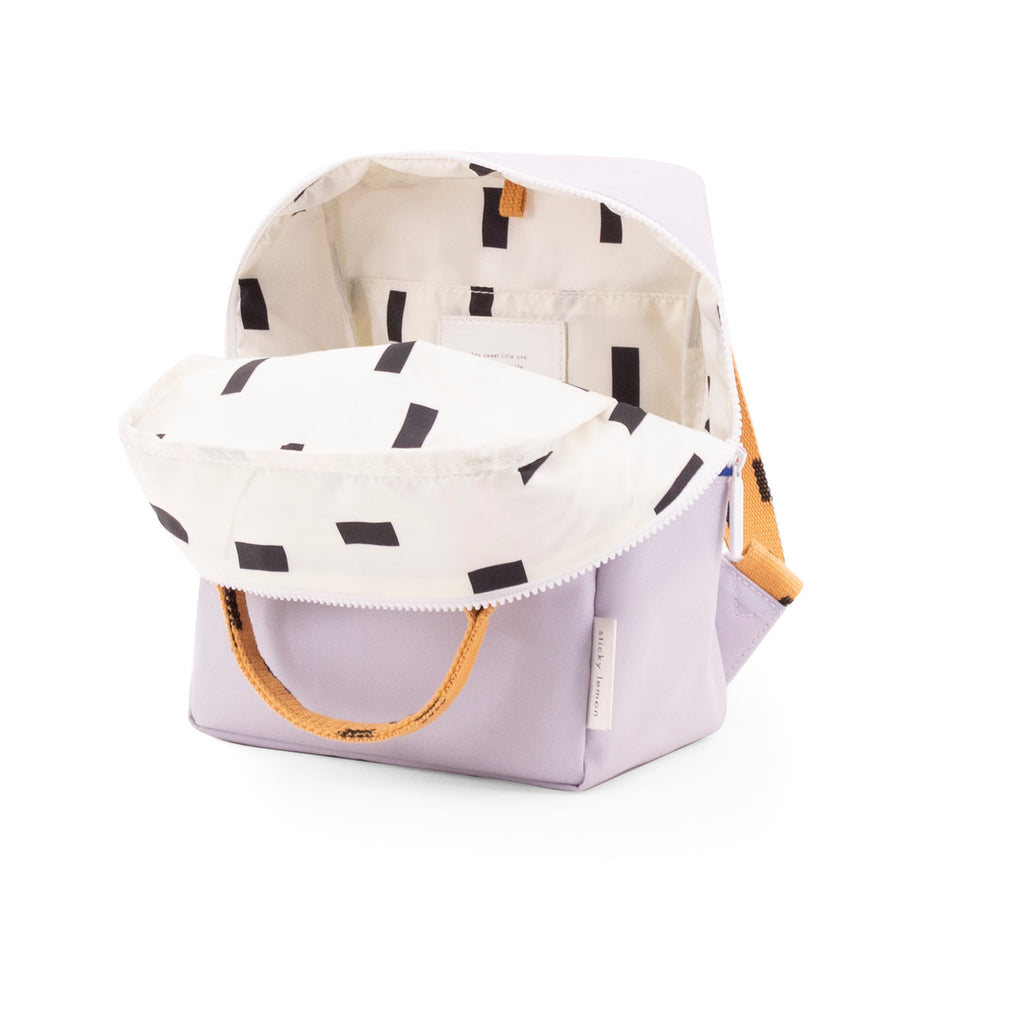 Sticky Lemon Sprinkles Collection Small Backpack, Lavender/Apricot Orange/Indigo Blue