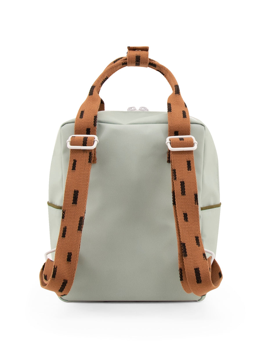 Sticky Lemon Sprinkles Collection Small Backpack, Sage Green/Cinnamon Brown/Moss Green