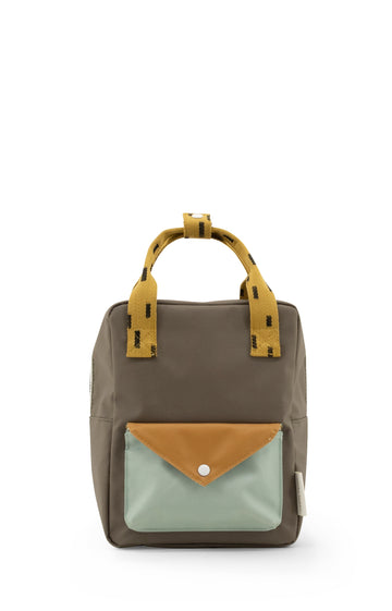 Sticky Lemon Sprinkles Envelope Small Backpack, Sage Green/Moss Green/Panache Gold