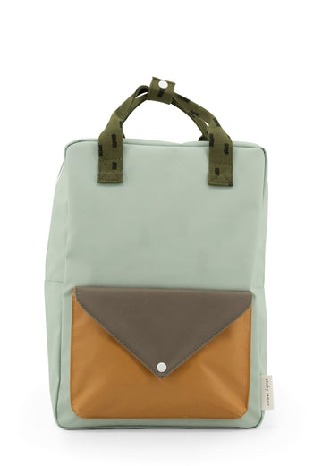 Sticky Lemon Sprinkles Envelope Large Backpack, Sage Green/Moss Green/Panache Gold