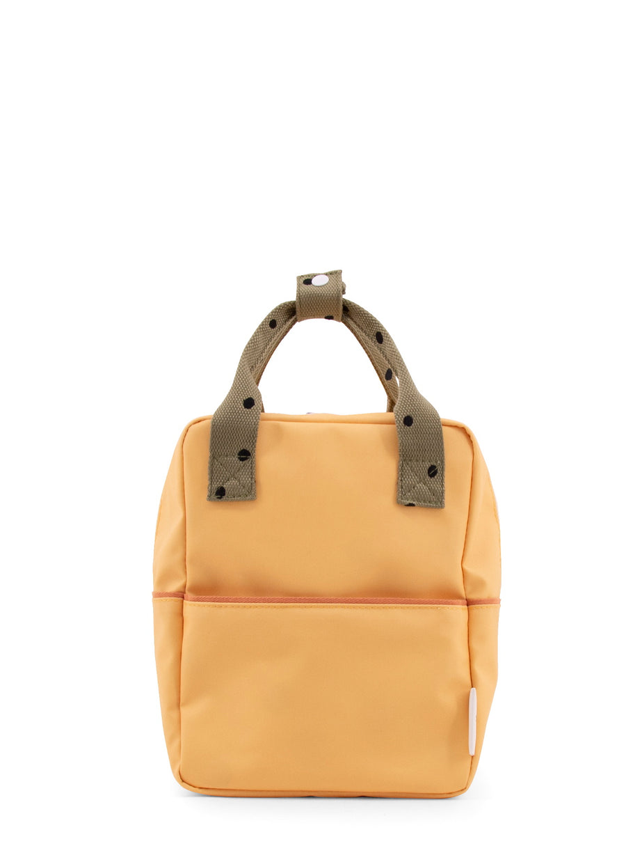 Sticky Lemon Freckles Small Backpack, Retro Yellow/Seventies Green/Faded Orange