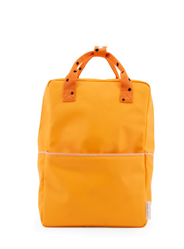 Sticky Lemon Freckles Collection Large Backpack, Sunny Yellow/Carrot Orange/Candy Pink