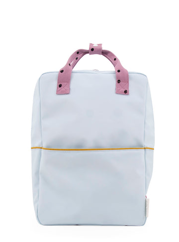 Sticky Lemon Freckles Collection Large Backpack, Sky Blue/Pirate Purple/Caramel Fudge