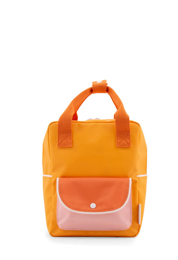 Sticky Lemon Wanderer Envelope Small Backpack, Sunny Yellow/Carrot Orange/Candy Pink