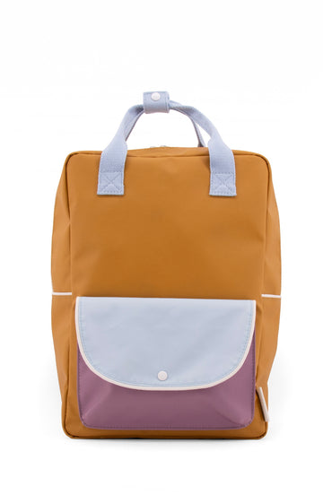 Sticky Lemon Wanderer Envelope Large Backpack, Caramel Fudge/Sky Blue/Pirate Purple