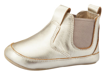 Old Soles Boy's and Girl's Bambini Local Leather Slip On Bootie - Gold