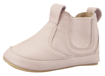 Old Soles Girl's Bambini Local Soft Leather Slip On Bootie Crib Walker Baby Shoes - Powder Pink