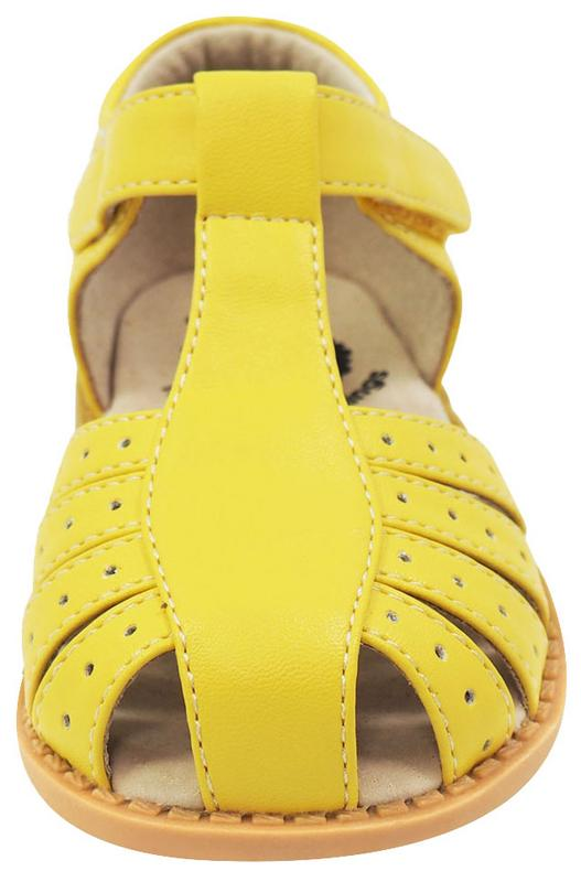 Livie & Luca Girl's Paz Yellow Leather Sandals