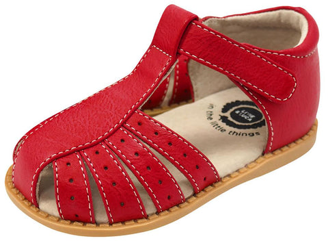 Livie & Luca Girl's Paz Red Leather Sandals