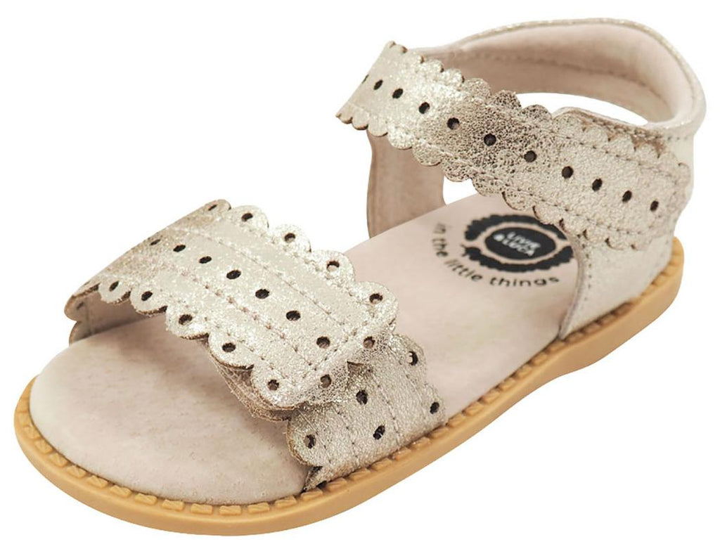 Livie & Luca Girl's Posey Gold Shimmer Leather Sandals