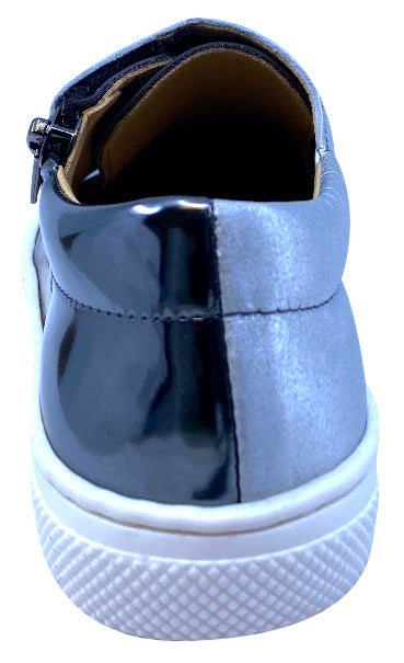 Maria Catalan Boy's & Girl's Acero Grey Patent Leather Shoe