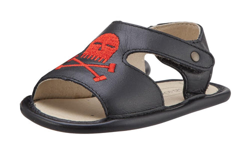 Old Soles Boy's and Girl's Bambini Pirate Black Leather Sandals