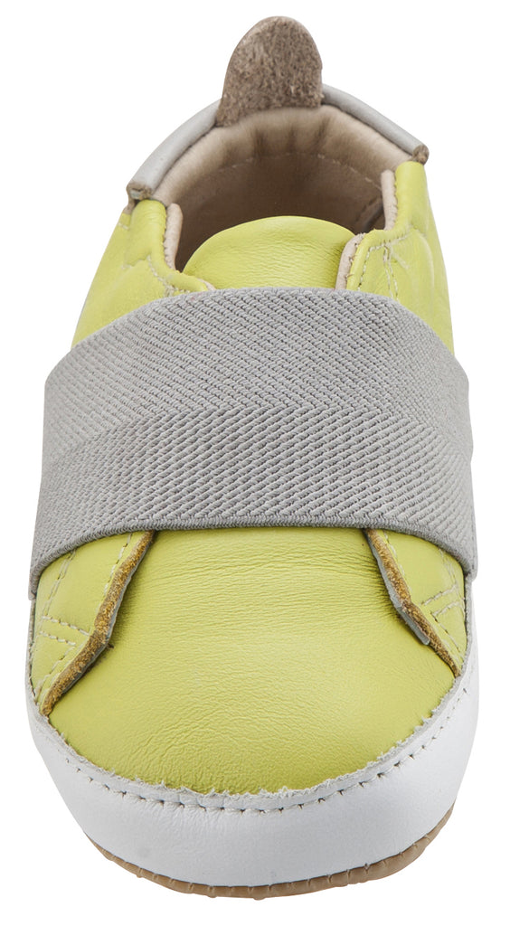 Old Soles Girl's & Boy's 195 Bambini Master Lima with Grey Band Leather Elastic Slip On Sneakers