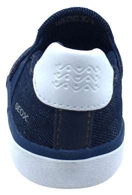 GEOX Girl's Kilwi Slip-On Sneaker Tennis Shoes, Denim