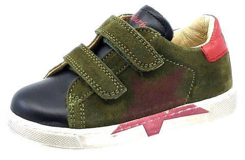 Naturino Falcotto Boy's Arlon Shoes, Nero-Militare