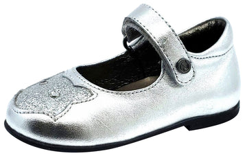 Naturino Falcotto Girl's PIROUETTE Shoes, LAMINATO ARGENTO