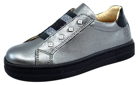 Naturino Girl's & Boy's Oristano Shoes, Laminato/Vernice Acciao-Nero
