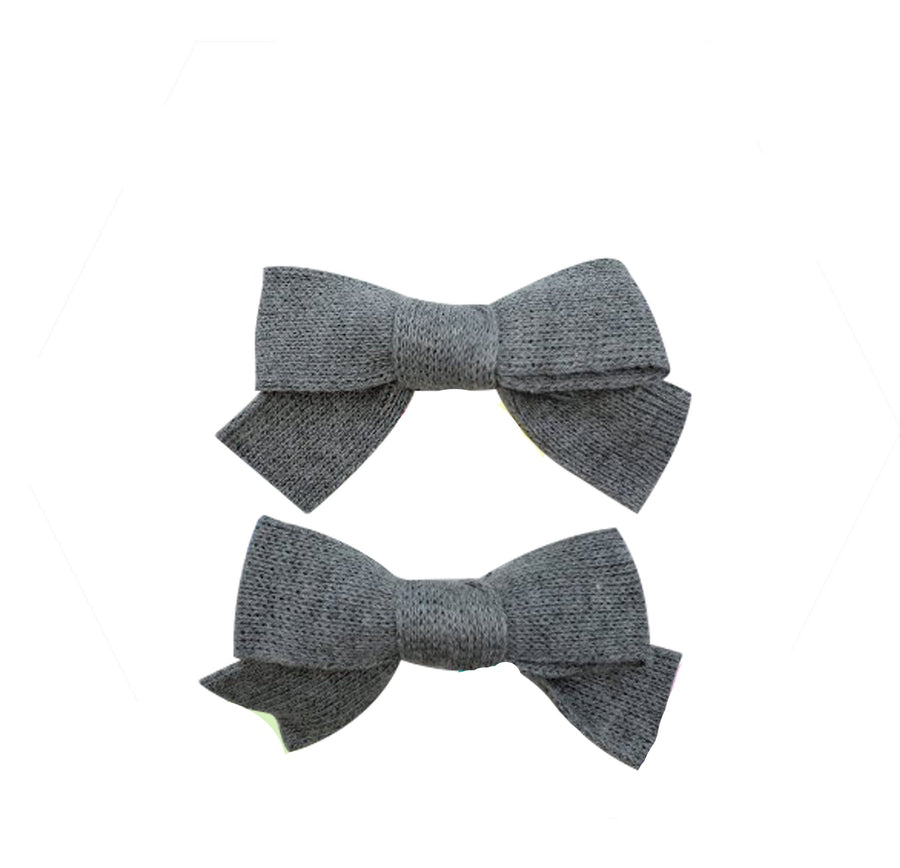 Five / Eleven Hairclip Japanese Bow H Grey