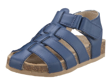 Old Soles Boy's Roadstar Fisherman Leather Sandals, Jeans